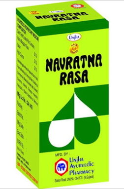 Unjha Navratana Ras ( Gold Coated )
