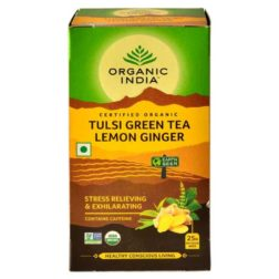 Organic India Tulsi Green Tea Lemon Ginger